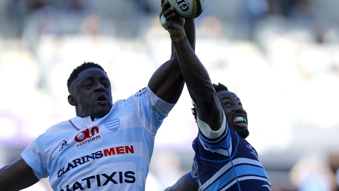 Duel en l'air entre Yannick Nyanga et Fulgence Ouedraogo