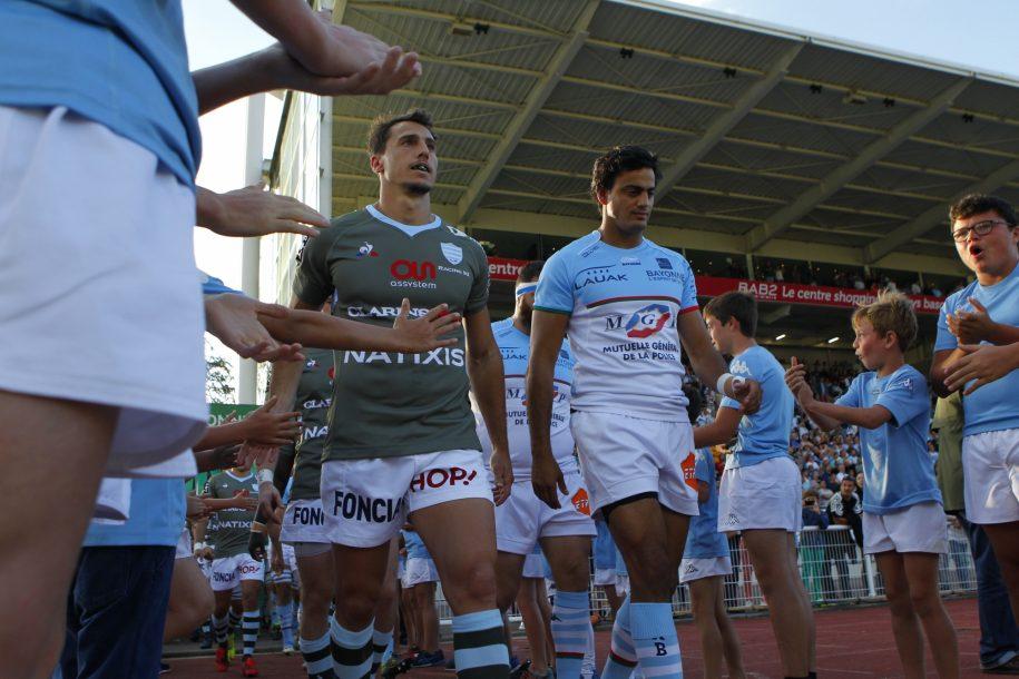 Juan Imhoff, capitaine des Ciel et Blanc lors du match face à l'Aviron Bayonnais