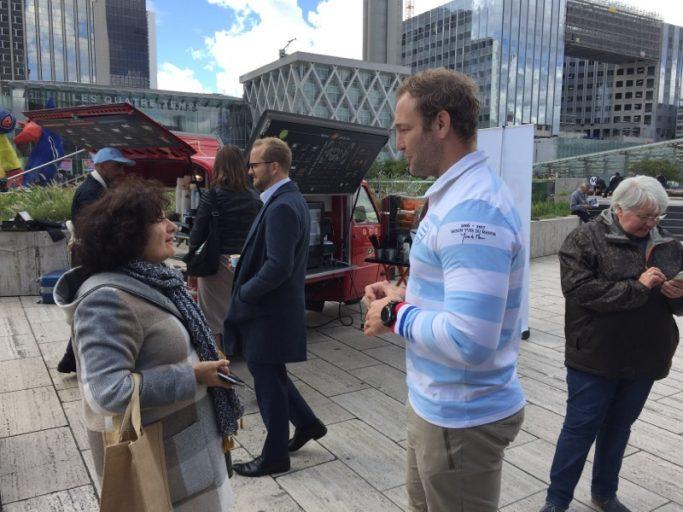 Antonie Claassen à la rencontre des supporters