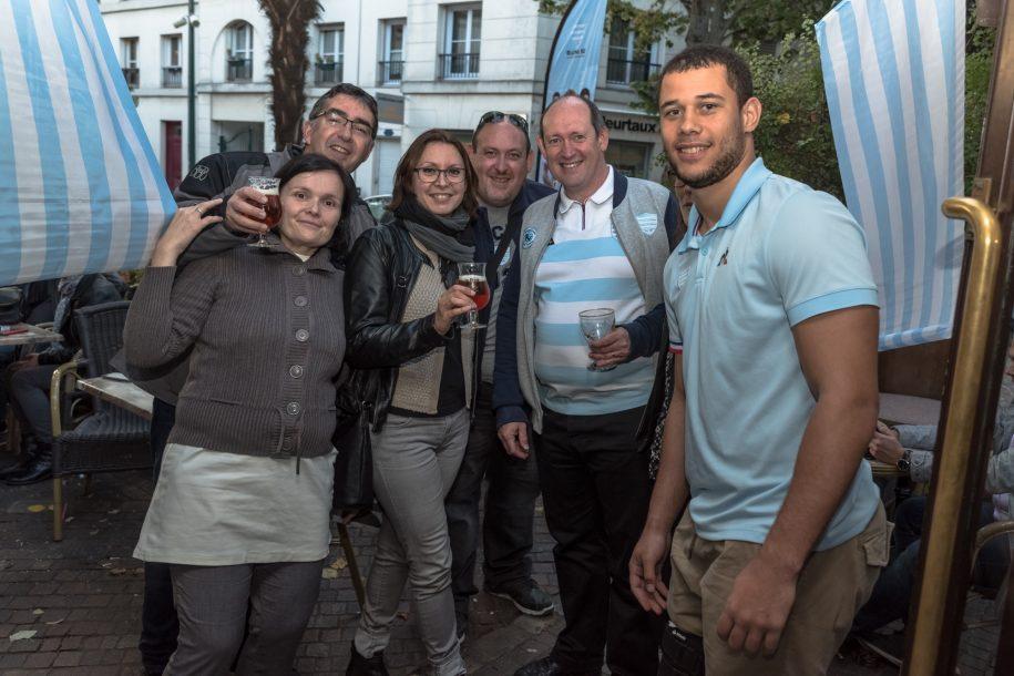 Matthieu Voisin & les supporters Ciel et Blanc