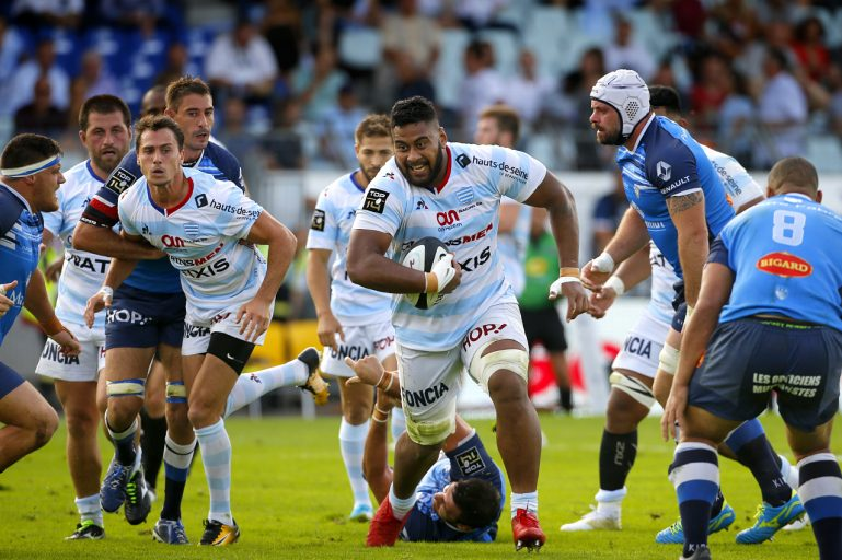 Racing 92 vs Castres Olympique - Edwin Maka transperce la défense castraise