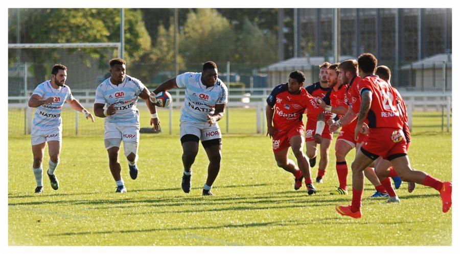 Maxence Macia, Hassane Kolingar, Georges-Henri Colombes - Racing 92 vs Stade Aurillacois