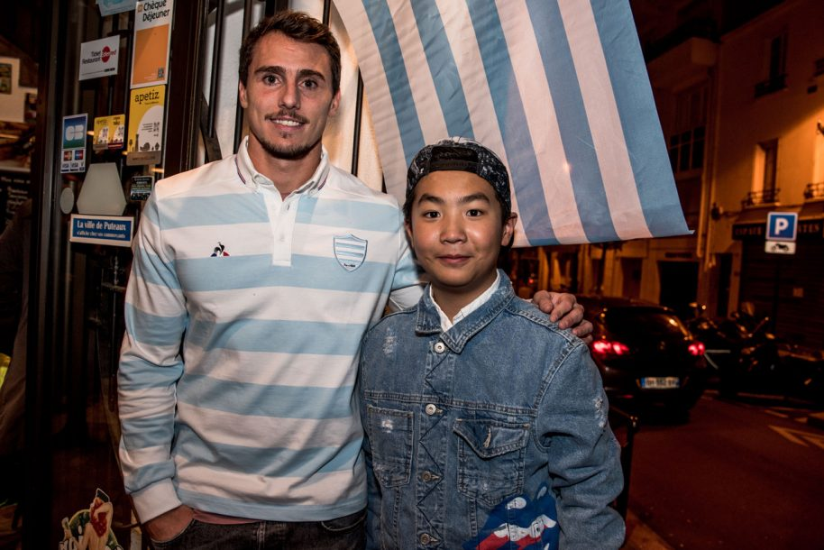 Juan Imhoff à la rencontre des supporters au Longchamps