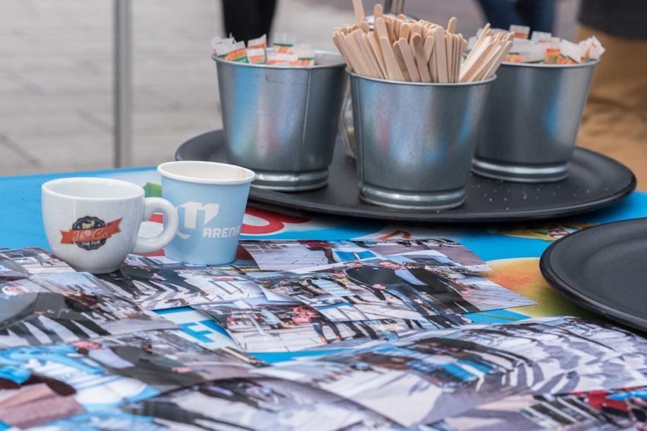 Un café avec les Ciel et Blanc à la Défense !