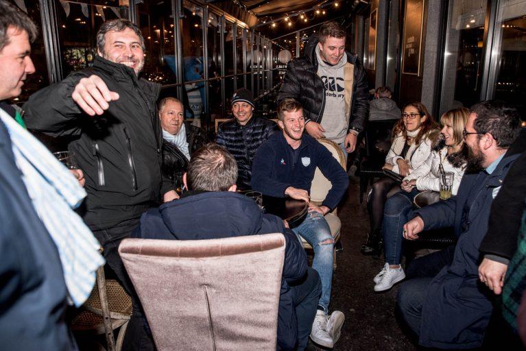 Soirée conviviale hier soir à l'Iguana avec Louis Dupichot et les supporters Ciel et Blanc
