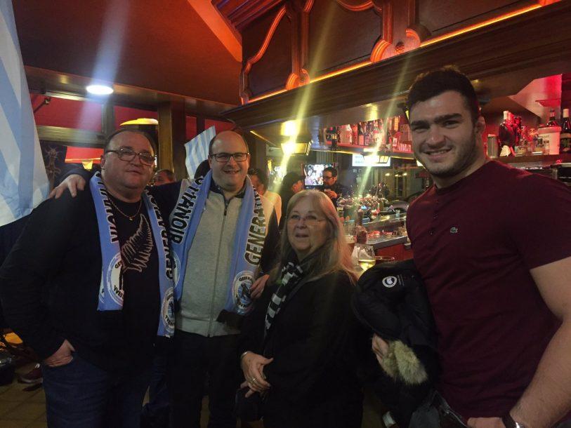 Une soirée entre supporters et le jeune Teddy Baubigny