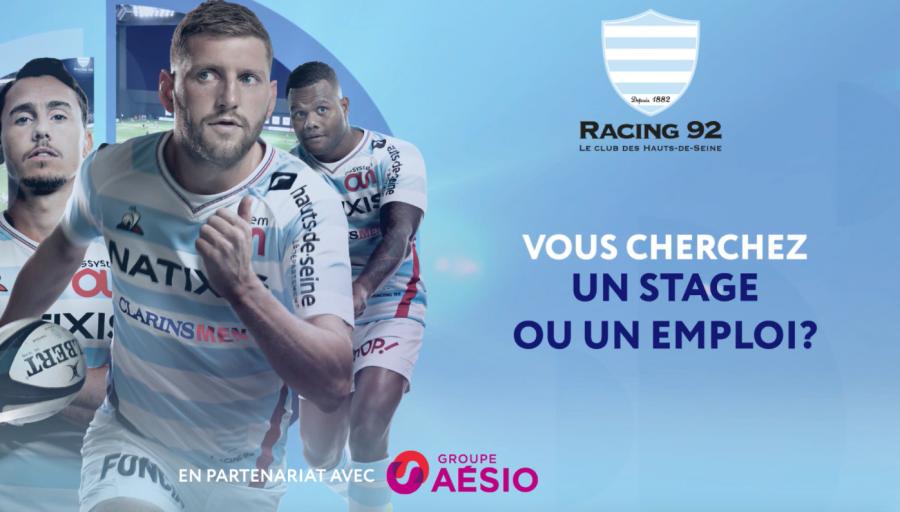 Le Racing 92 et Aésio vous aident à trouver un emploi !
