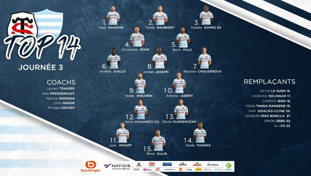 Composition du Racing 92