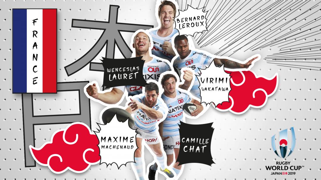 Les 5 Racingmen qui s'envolent vers le Japon