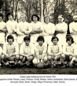 1975 - Nicolas , Lopez , Puchaux , Chiotti , Moreau , Versini , Archambaut , Saint Leandre , Seran , SereinVergez , Alfraya , Provenciau , Gabin , Dumas
