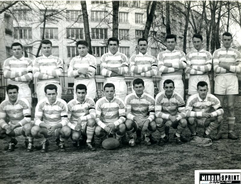 1958 : Fournier, Paillassa, Labernede, Moncla, Crauste, Grousset, Navarre, Masseboeuf, Conquet, Barbaste, Fernandez, Lasserre, Debet, Marquesuzaa, Chapuis