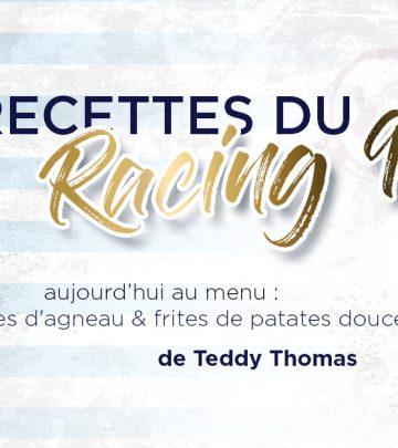Les Recettes du Racing 92 - Côtelettes d'agneau & frites de patates douces de Teddy Thomas