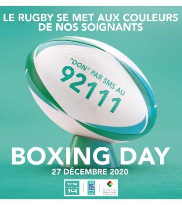 LE RUGBY PROFESSIONNEL AUX COULEURS DE NOS SOIGNANTS POUR LE BOXING DAY AVEC LA FONDATION HOPITAUX DE PARIS – HOPITAUX DE FRANCE