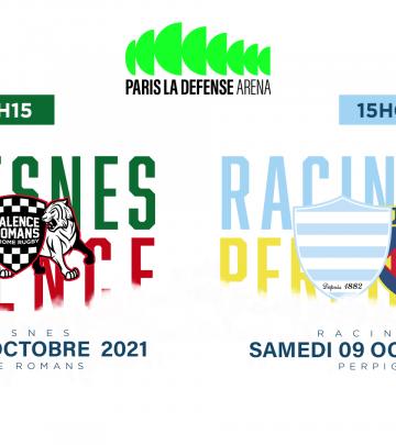 Rugby Club Suresnes v Valence Romans à Paris La Défense Arena !