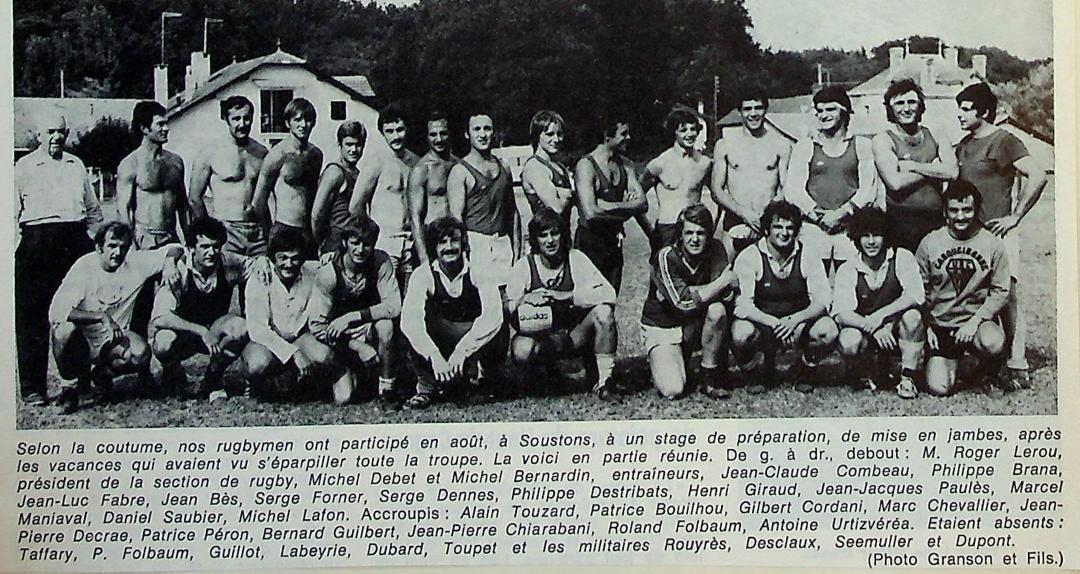 Bernard Guilbert (4e accroupi en partant de la gauche)